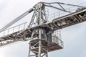 Crane cabin closeup.