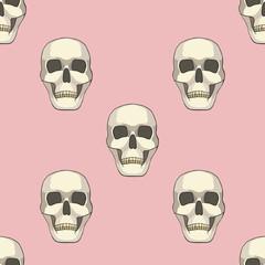 seamless pattern with skulls