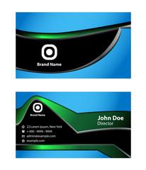 Modern vector business card