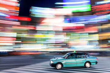Fototapete - Tokyo taxi