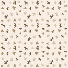 Animals seamless background