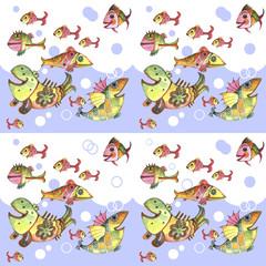 ornamental fish, watercolor, illustration
