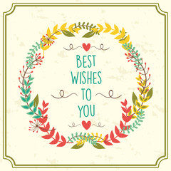 Best Wishes - Quote isolated on background.