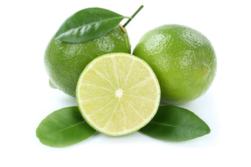 Limone Limette bio Früchte Freisteller freigestellt isoliert