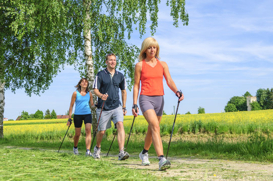 Fit bleiben mit Nordic Walking