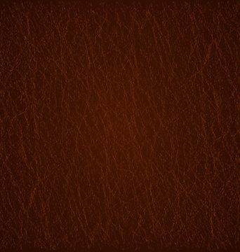 Detailed dark brown leather texture background. Vector Illustration. EPS 10.