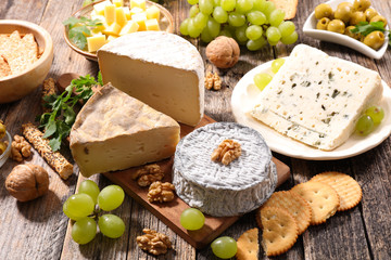 Poster de jardin Produit laitier assorted cheese
