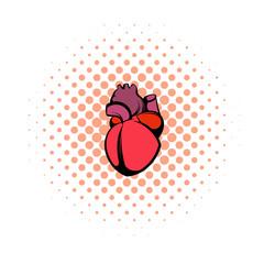 Human heart icon, comics style