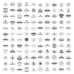 Vintage Logos Design Templates Set. Vector logotypes elements collection