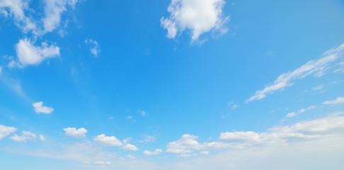 clear sky in the springtime