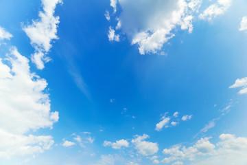 blue and white cloudscape