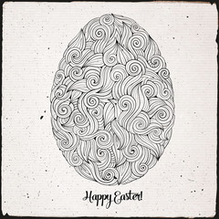 Doodles ornament easter egg background