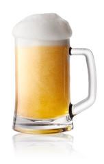 Foam fresh beer in mug