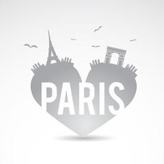 I love Paris creative vector sign.