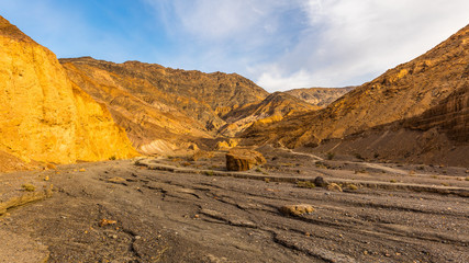 Rocky landscape background. Mosaic Canyon, Death Valley National Park, California
