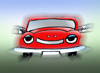 Auto KFZ Zeichnung
