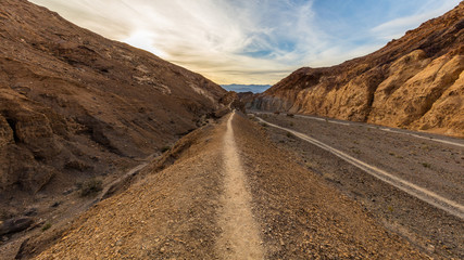Hiking trail through the narrows at Mosaic Canyon Death Valley National Park, California