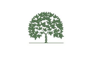 logo element green vegetation for plantation crops by models