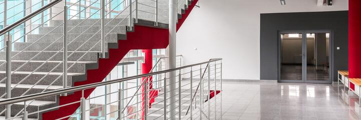 Hallway of modern university