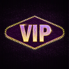 Very important person - VIP text