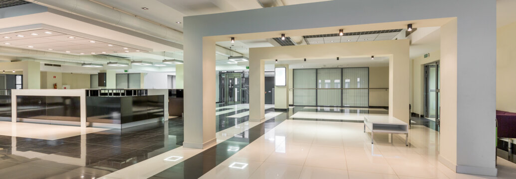 Stylish corridor on modern college