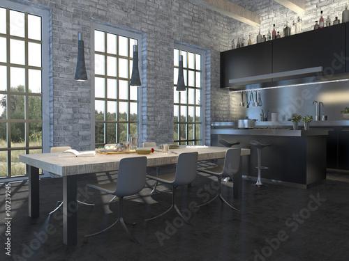 elegante k che im modernen country style zdj stockowych i obraz w royalty free w. Black Bedroom Furniture Sets. Home Design Ideas