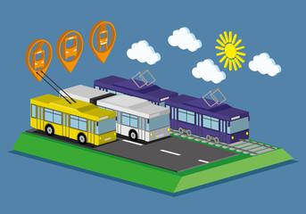 Web infographic concept public transport.