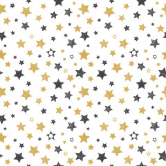 Seamless pattern with hand drawn stars. Stylish background