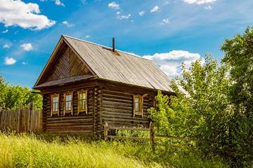 russian farmstead in village