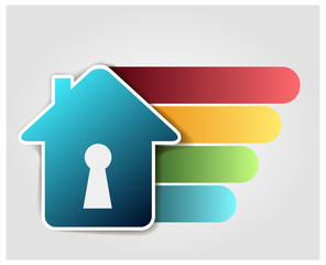 Abstract house icon on white background, design elements for your logo