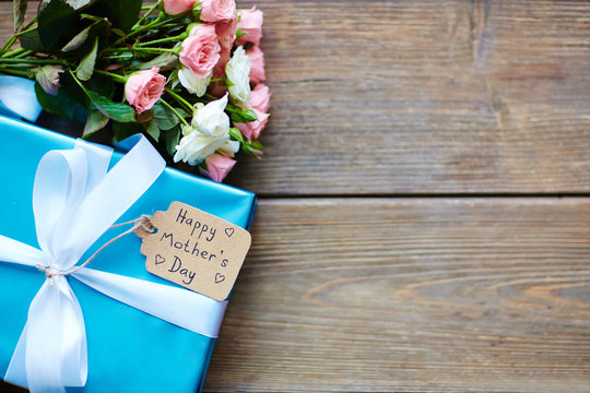 Package and flowers
