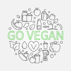 Go Vegan illustration