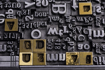 Metal Letterpress Types.