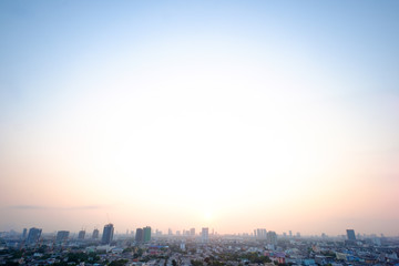 art of sky over Bangkok city Thailand