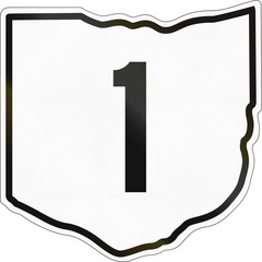 Historic Ohio Highway Route shield from 1960 used in the US