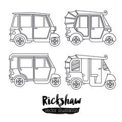 rickshaw trasnportation design