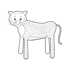 Easy Coloring Animals for Kids: Cheetah
