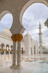 Foto op Aluminium Abu Dhabi Sheikh Zayed Grand Mosque in Abu Dhabi, the capital city of UAE