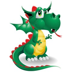 Poster Draw Dragon Baby Cute Cartoon