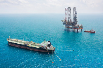 Offshore oil rig drilling platform
