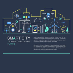 Smart city vector concept.