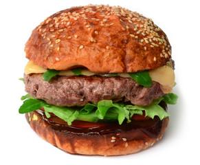 Hamburger Cheesburger Dunkel freigestellt