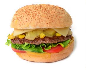 Hamburger Cheesburger freigestellt