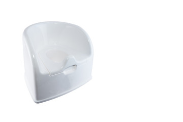 Isolated white toilet potty on white background.
