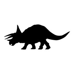 triceratops dinosaur silhouette