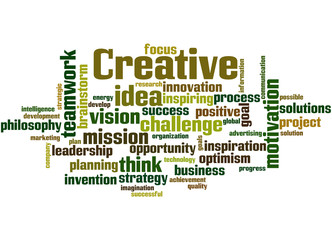 Creative, word cloud concept 6