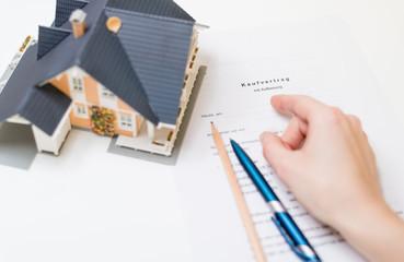 Kaufvertrag für Immobilie
