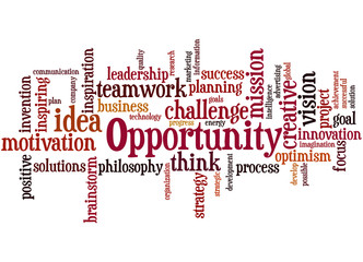 Opportunity, word cloud concept 5