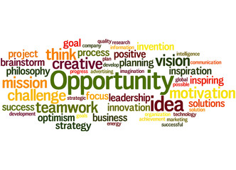 Opportunity, word cloud concept 6