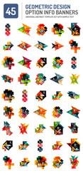 Set of web box geometric banners